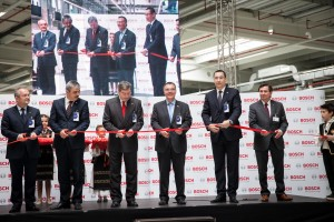 Ribbon cutting at new BOSCH factory in Cluj